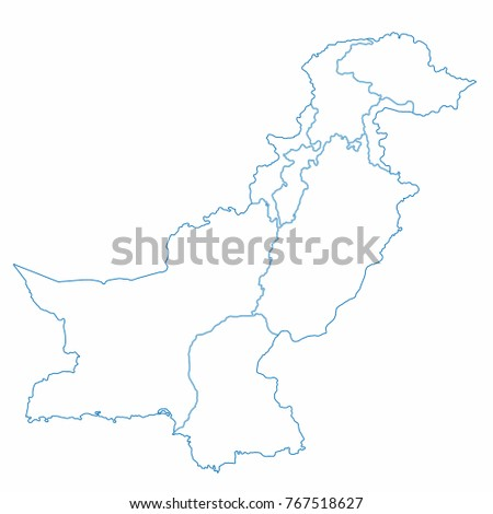 Pakistan world map country outline graphic stock vector 767518627 pakistan world map country outline in graphic design concept gumiabroncs Choice Image
