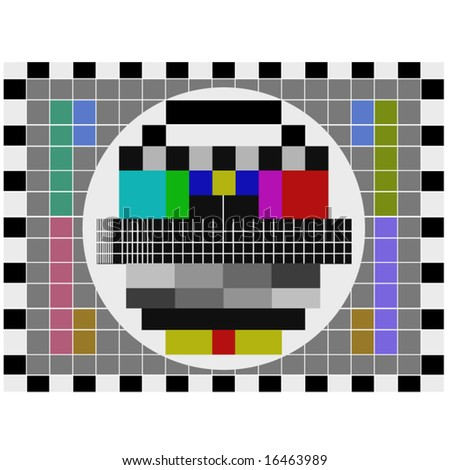 PAL tv pattern signal for test purposes - also available as JPEG
