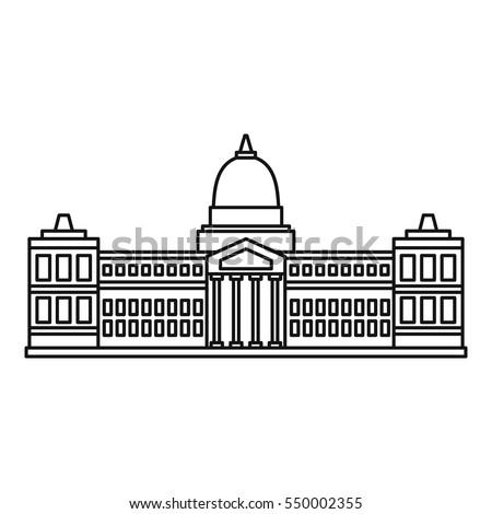 Illustration Indian Parliament Building Stock Vector ...