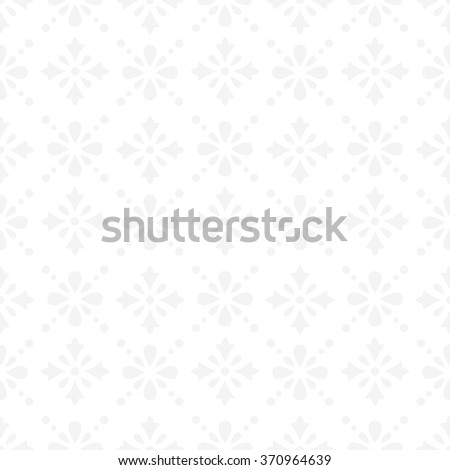 Pale vintage seamless classic pattern with floral and dotted ornament on a white background - stock vector