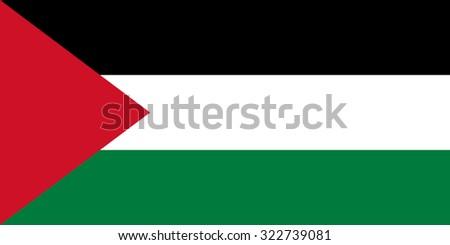 Palestine Nation Flag - stock vector