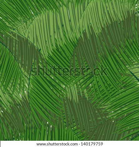 Palm branches abstract background - stock vector