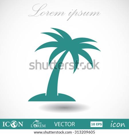 palm, icon. Vector  Eps 10