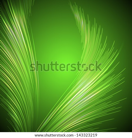 Palm leaves - stock vector