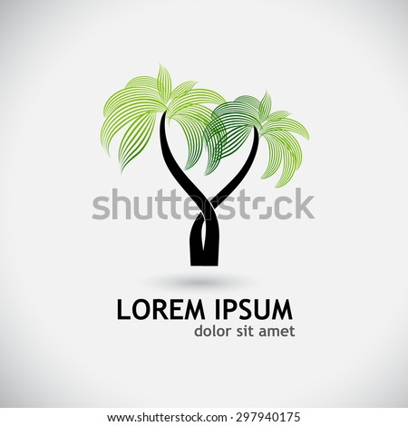 palm logo. Vector - stock vector