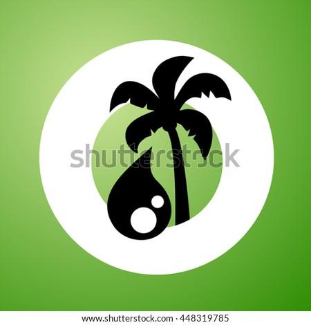 palm oil symbol - stock vector