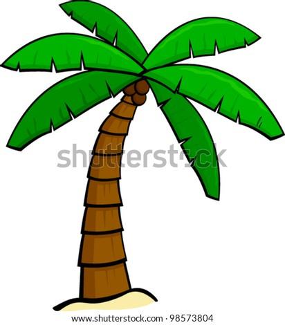 Palm Tree Stock Vector 98573804