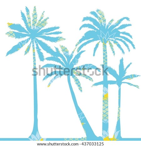 palm tree silhouette-vector illustration