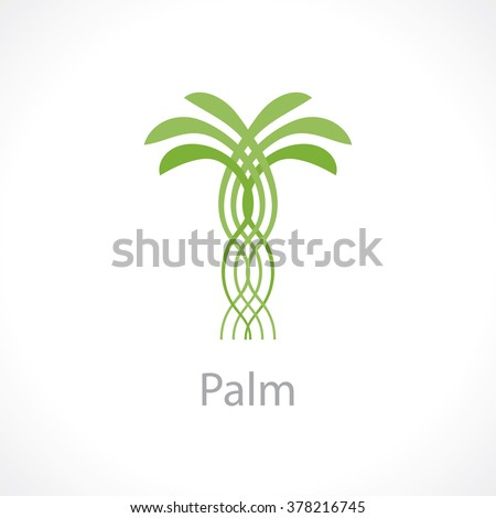 palm tree. vector logo template