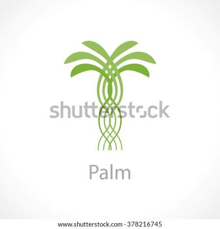 Coconut tree logo
