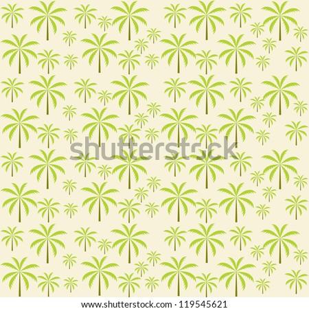 Palm trees seamless pattern. Vector illustration. EPS 10 - stock vector