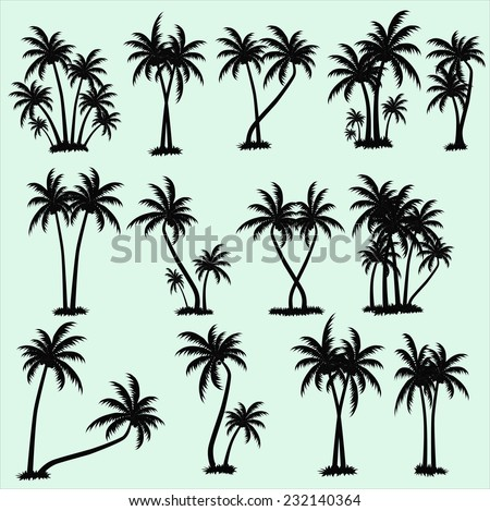palm trees vector stock vector hd royalty free 232140364 rh shutterstock com palm tree vector silhouette palm trees victoria bc