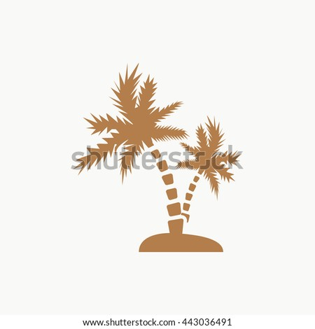 palm trees vector icon