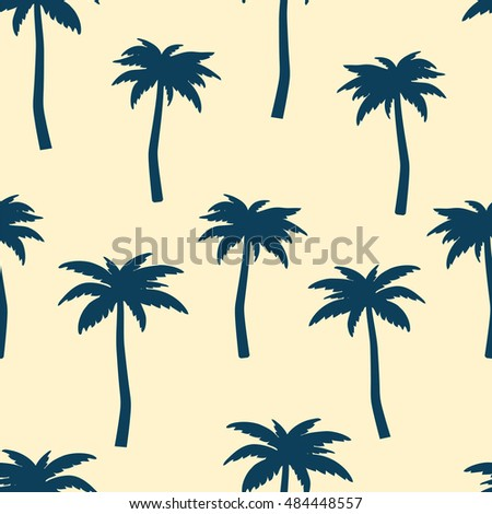 palms seamless vector pattern repeating background stock vector rh shutterstock com palm tree pattern free vector