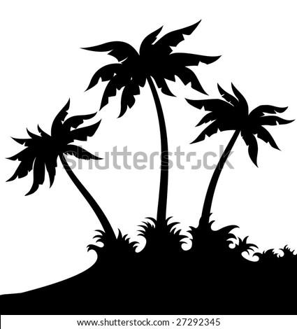 palms tree - stock vector
