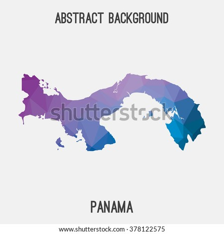 Panama map in geometric polygonal style.Abstract tessellation,modern design background. Vector illustration EPS8 - stock vector