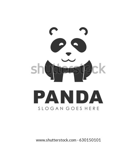 panda bear logo design vector