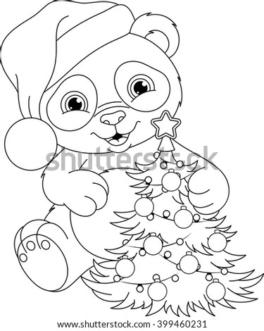 Christmas Panda Coloring Pages Panda Coloring Pages For Christmas ...