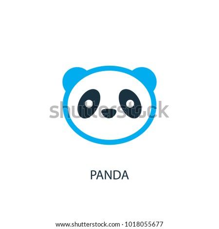 Panda Icon Logo Element Illustration Panda Stock Vector 1018055677