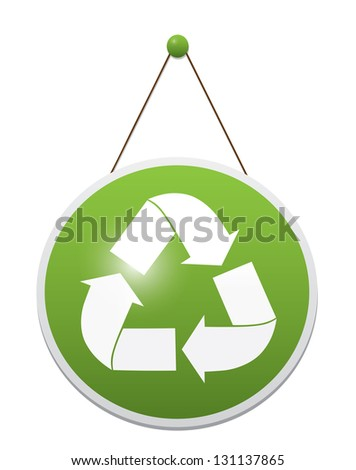 Panel for recycle simbol. Vector - stock vector