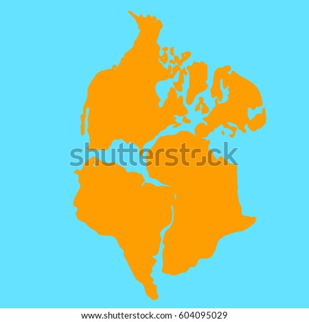 Pangea Stock Images RoyaltyFree Images Vectors Shutterstock - Pangaea map