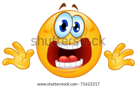 Panic emoticon - stock vector