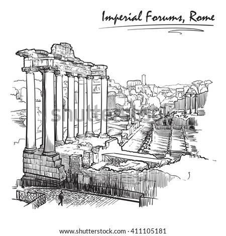Roman Forum Clipart