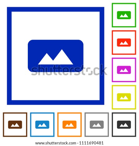 Panorama Picture Flat Color Icons Square Stock Vector 1111690481 ...