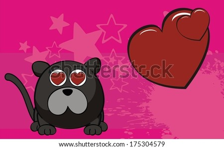panther cartoon background in vector format