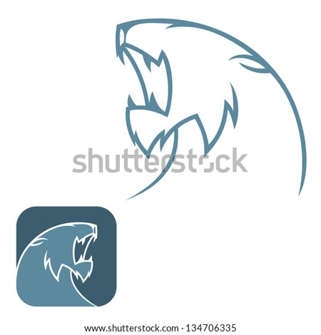 Panther sign - vector illustration - stock vector
