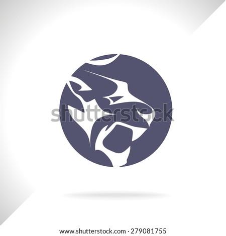 Panther wild cat vector - stock vector