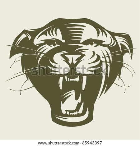 Panthers head. - stock vector