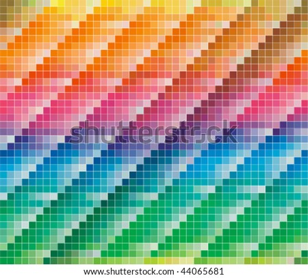 Pantone CMYK colours palette for Abstract Background - stock vector
