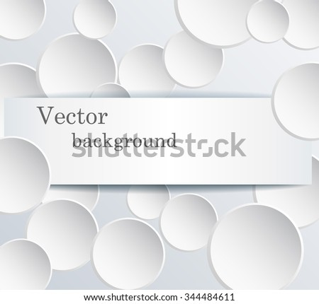Paper a circle banner with a shadow. - stock vector