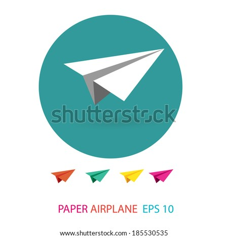paper airplane - stock vector