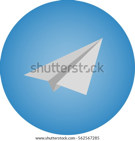 paper airplane on a blue background