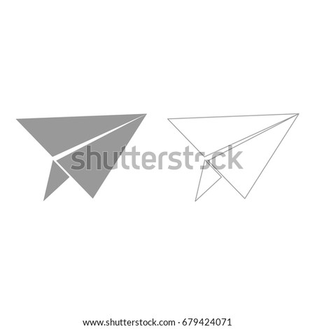 Paper airplane  set  icon .