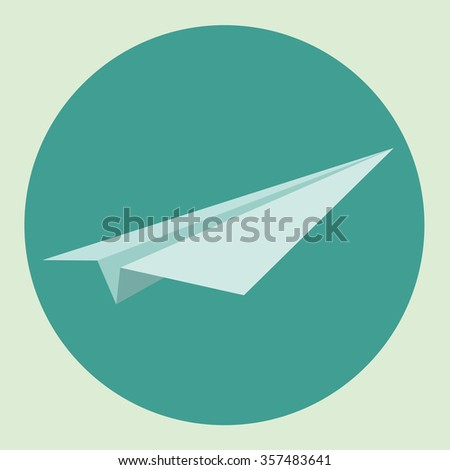 Paper airplane vector illustration
