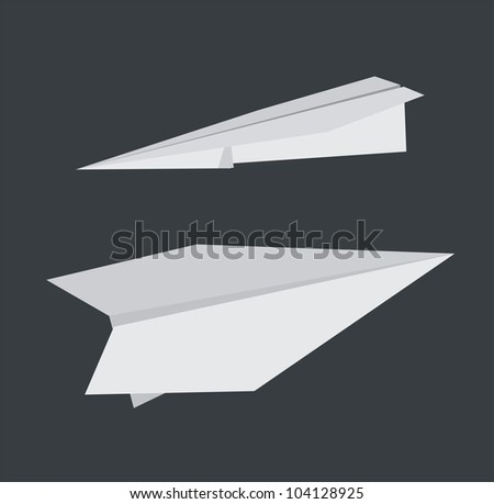 Paper airplanes. - stock vector