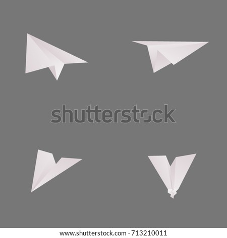 Paper airplanes vector illustration collection