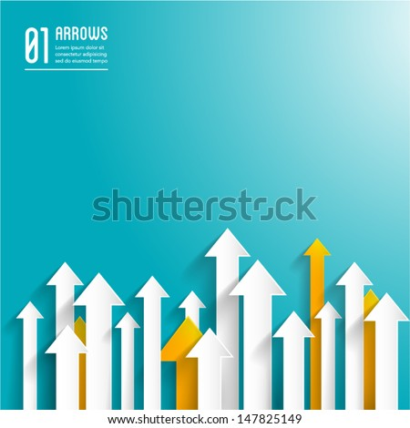paper arrows background - creative business template - graphic design - stock vector