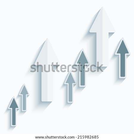 Paper arrows.Vector
