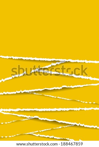 Paper Background with grungy texture. Old Torn Paper - stock vector