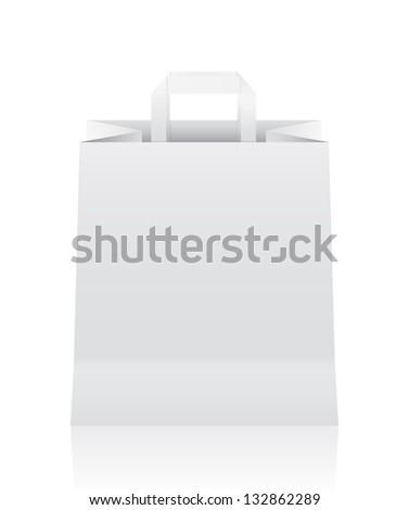 Paper bag - stock vector