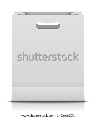 Paper bag - stock vector