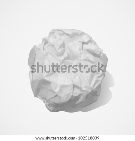 Paper ball - stock vector