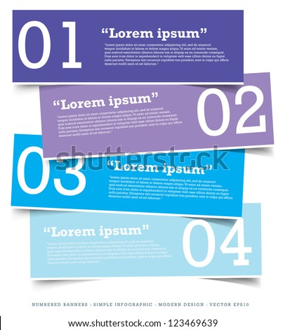 Paper Banner Design templates for your website or infographic. Vector - stock vector