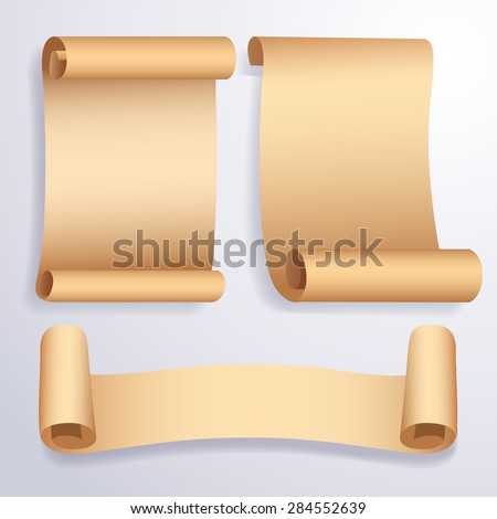 Paper Banner Set : Vector Illustration - stock vector