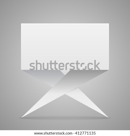 Paper banner template for business design. Eps10. - stock vector