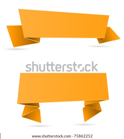 paper banners - stock vector